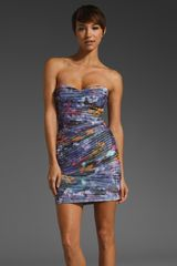 Bcbgmaxazria Strapless Dress in Blue (dark persimmon) - Lyst