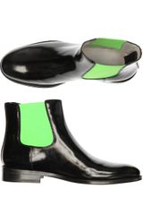 Christopher Kane Chelsea Boots in Black (green) - Lyst