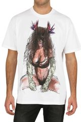 Givenchy Pin Up Printed Jersey Oversized T-shirt - Lyst