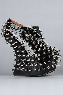Jeffrey Campbell The Shadow Stud Bootie in Black Patent - Lyst