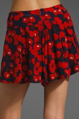 Nanette Lepore Singing Shorts in Red (ink multi) - Lyst