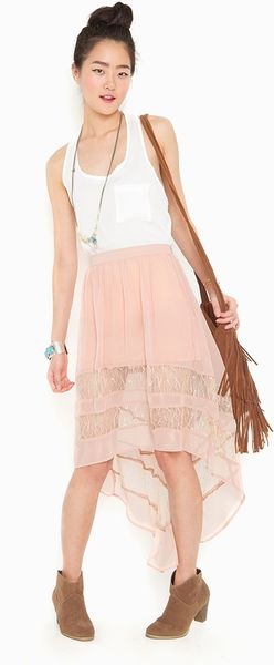 Nasty Gal Laced Tail Skirt  Blush in Pink (blush) - Lyst