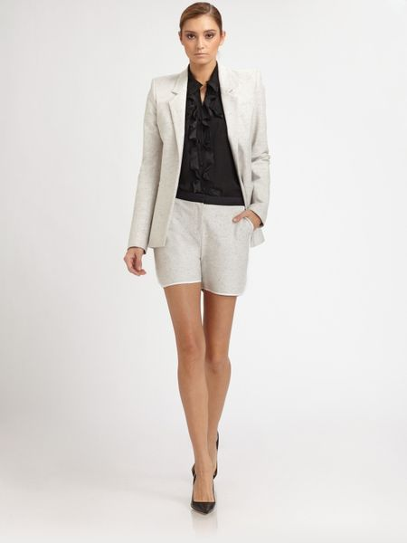 Prabal Gurung Cotton Jacket in White - Lyst