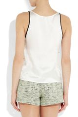Sandro Elegante Printed Silk Top in White (ivory) - Lyst