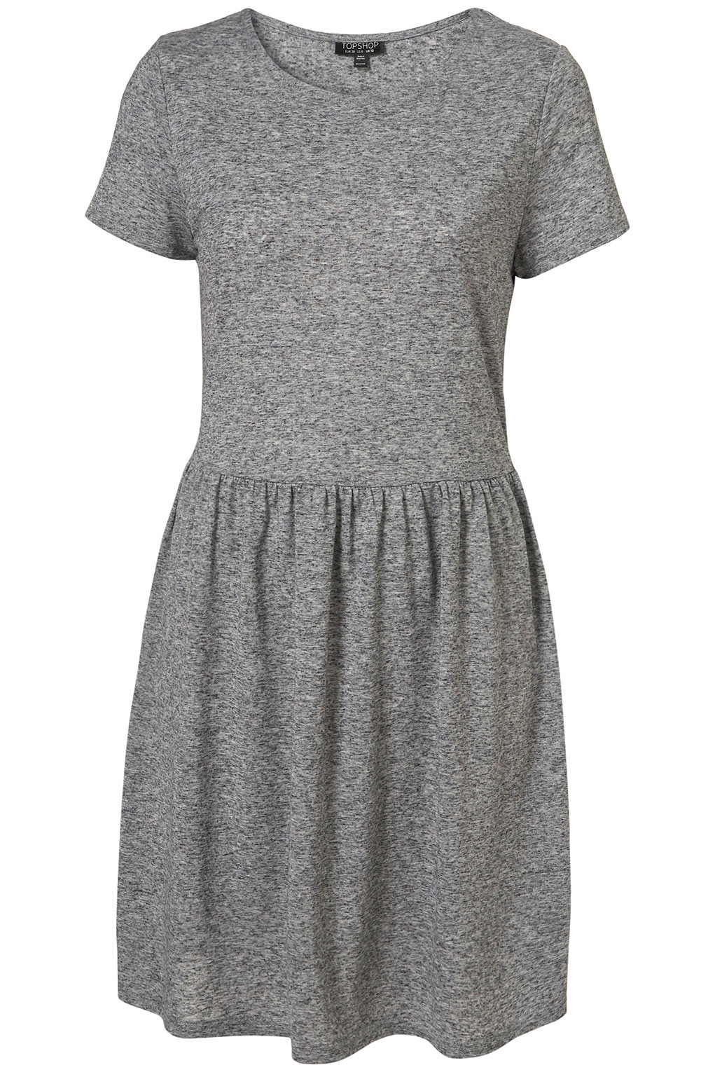 Topshop Speckle T Shirt Dress In Gray Lyst