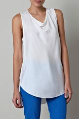 3.1 Phillip Lim Sheer-Back Silk Top - Lyst