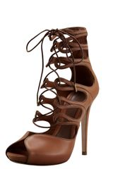 Alexander McQueen Ghilly Lace-up Sandal - Lyst