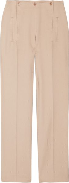Alexander McQueen Textured Cotton and Wool-blend Pants - Lyst