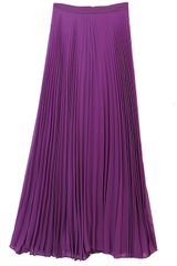 Alice + Olivia Shannon Pleated Maxi Skirt Purple