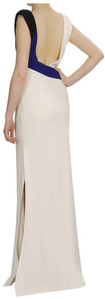 Antonio Berardi Coloured Wrapped Crepe Gown in White (blue white) - Lyst