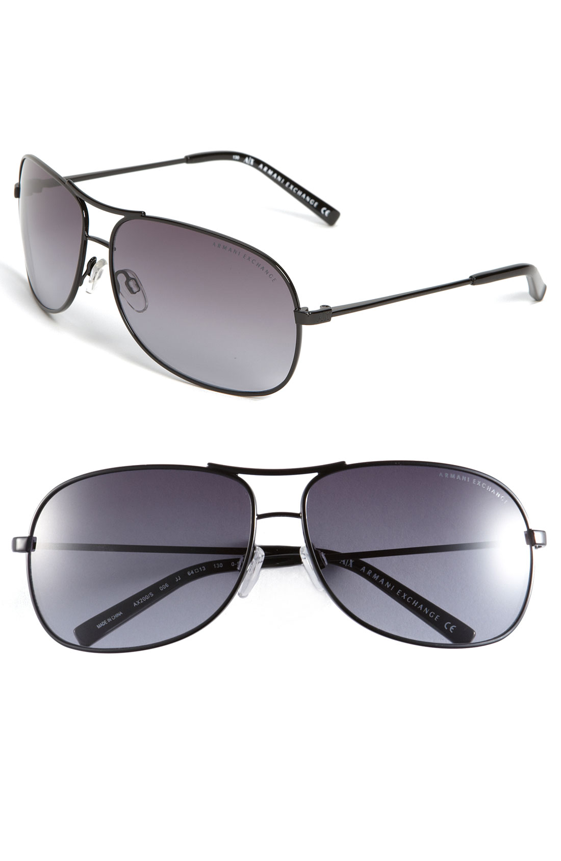 d3f4f88a4be Armani Exchange Metal Aviator Sunglasses in Gray for Men (oxford)