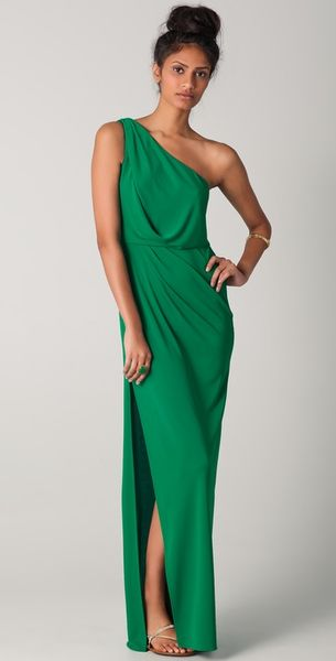 BCBGMAXAZRIA Snejana One Shoulder Gown - Lyst