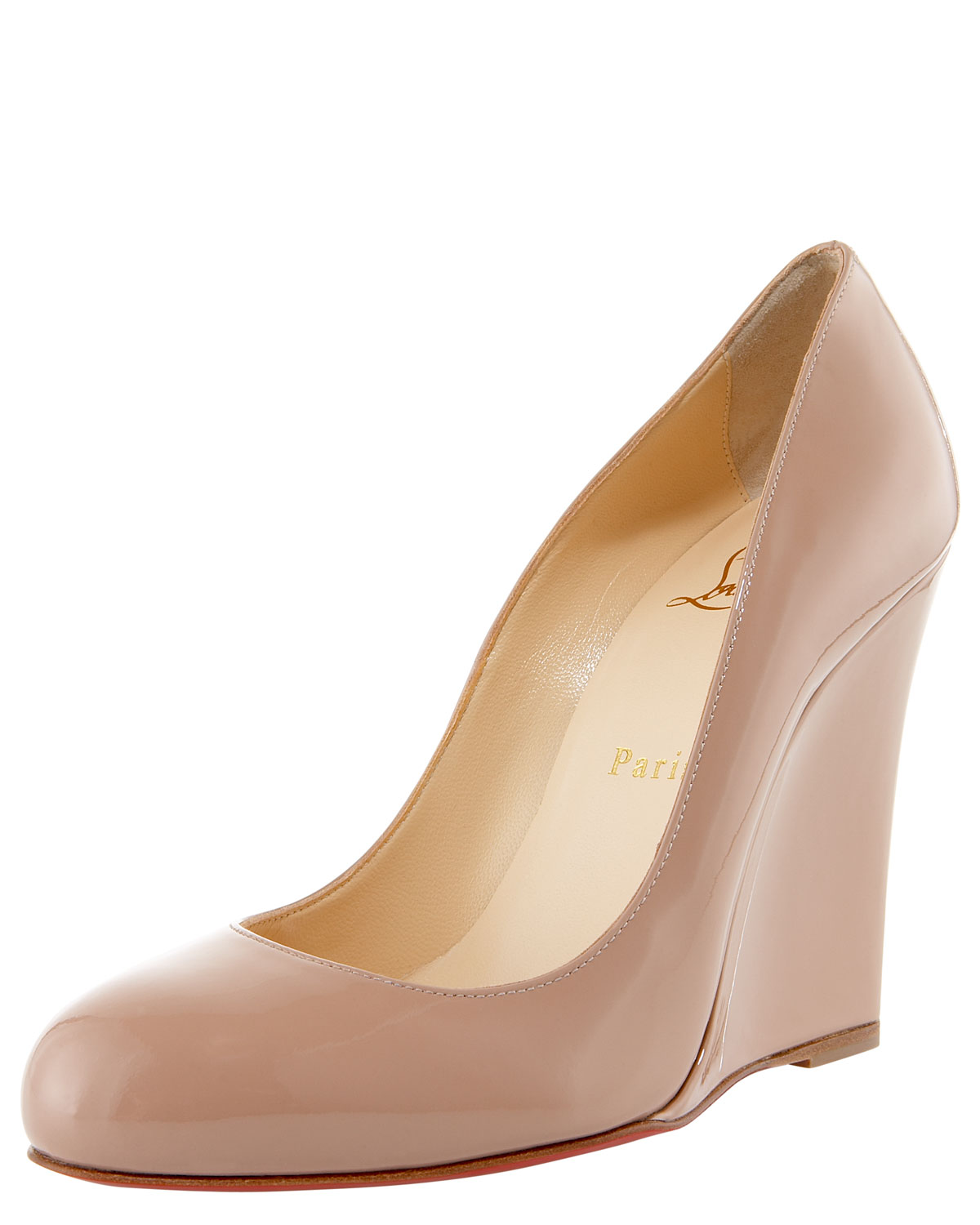 Christian louboutin Ron Ron Zeppa in Pink (nude) | Lyst