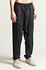 Damir Doma Mens Paam Drawstring Drop Crotch Trousers - Lyst