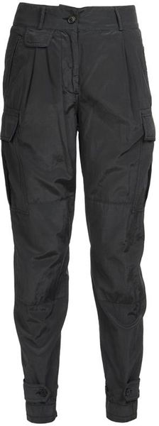 Dries Van Noten Pavi Silk-cotton Cargo Trousers - Lyst