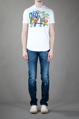 Dsquared2 Printed Tshirt in White for Men - Lyst