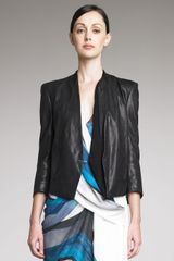 Helmut Lang Waxed Leather Blazer - Lyst
