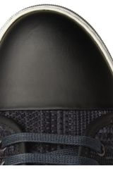 Lanvin Woven Suede Sneakers in Blue for Men - Lyst