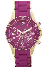Marc By Marc Jacobs Rock Chronograph Silicone Bracelet Watch - Lyst