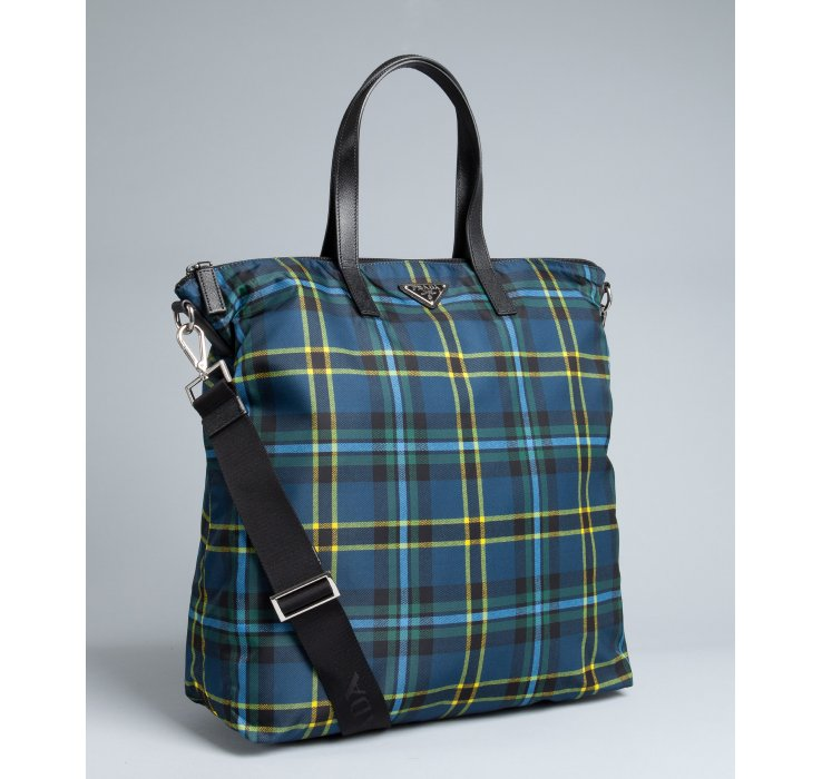 9af64d173b8684 Prada Blue Nylon Tote | Stanford Center for Opportunity Policy in ...