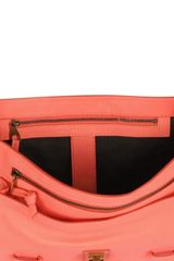 Proenza Schouler Ps1 Medium Lux Leather Satchel in Pink (coral) - Lyst