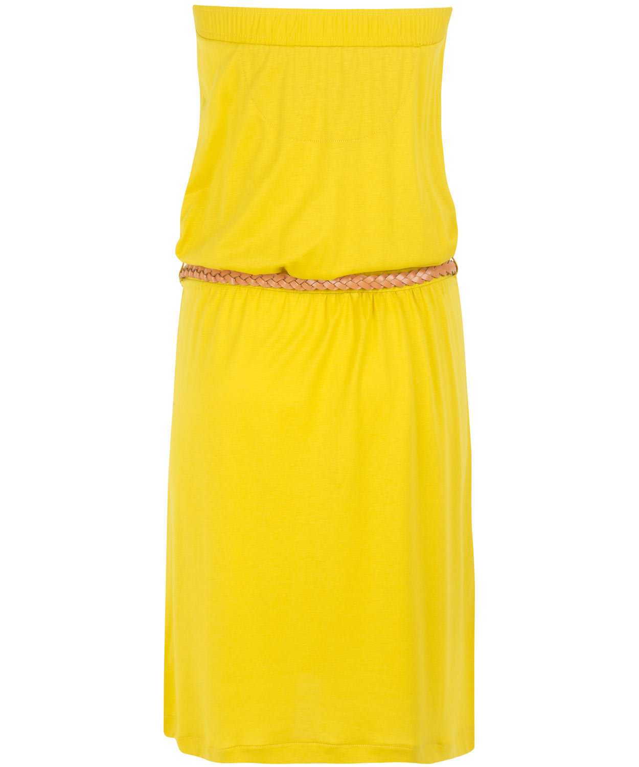 Lyst Sessun Yellow Strapless Jersey Dress In Yellow