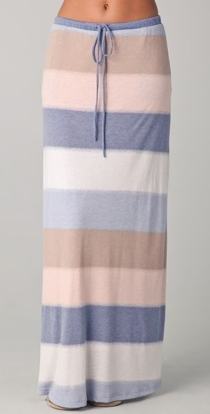 Splendid Mirage Stripe Maxi Skirt in Blue - Lyst