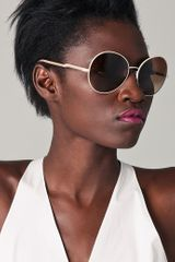 Stella McCartney Round Oversized Sunglasses - Lyst