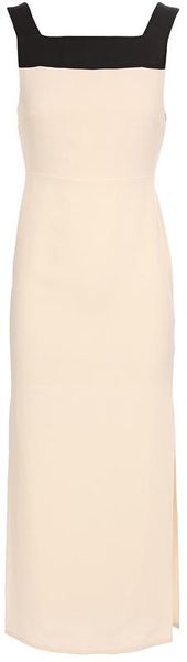Yasmin Kianfar Crepe Silk Dress with Side Slits - Lyst