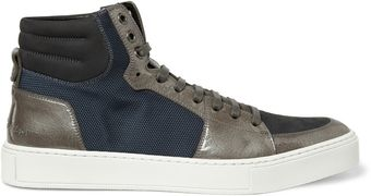 Yves Saint Laurent Malibu High Top Panelled Sneakers - Lyst