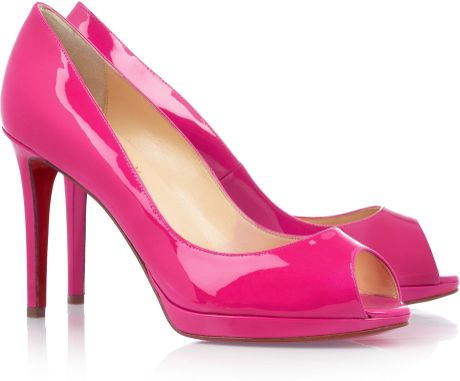 Christian Louboutin Yolanda 100 Patentleather Pumps in Pink - Lyst