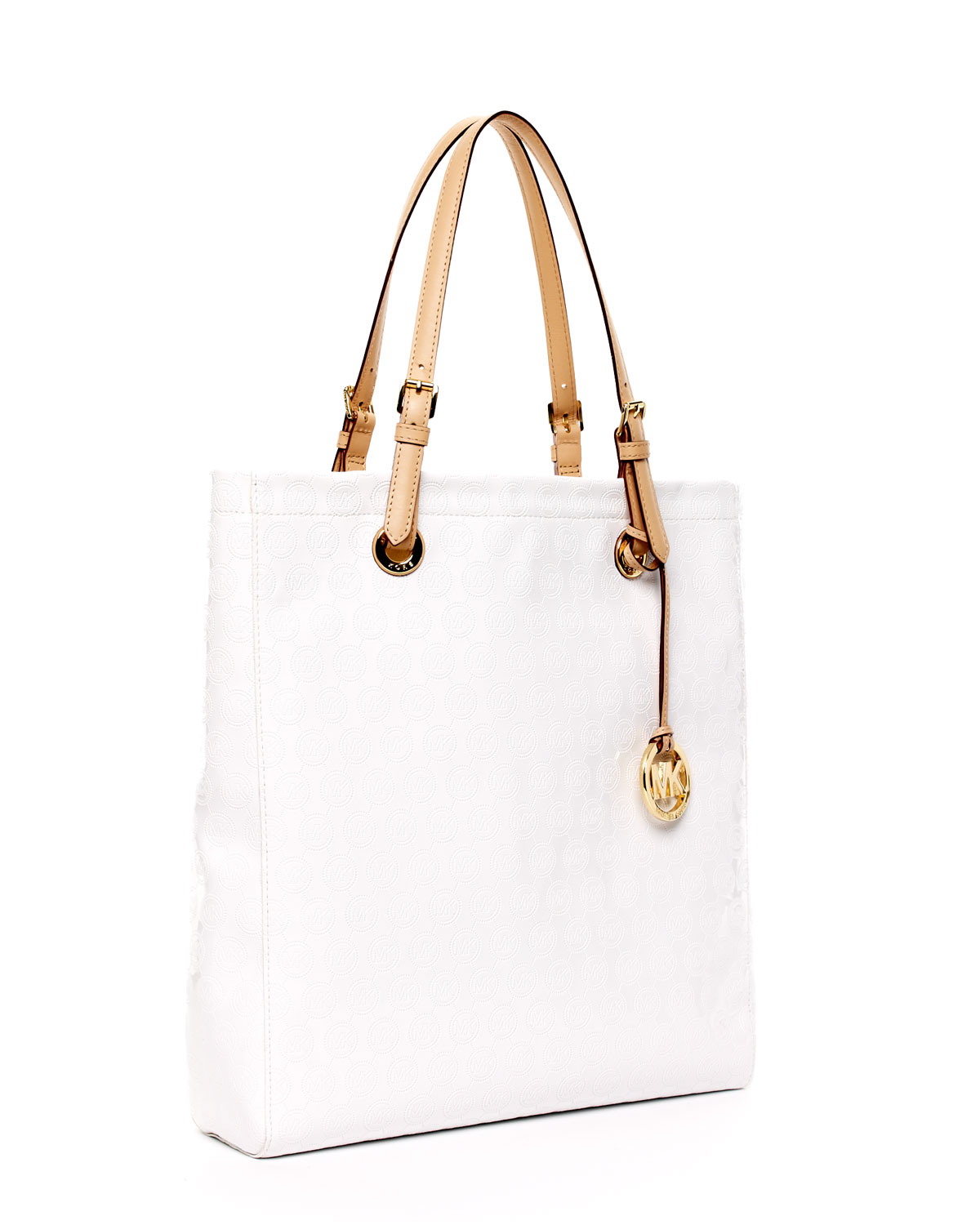 39838f63cf7f ... promo code for lyst michael kors jet set north south item tote white in  white 82e55 ...