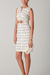 Milly Mariella Tweed Pencil Dress - Lyst