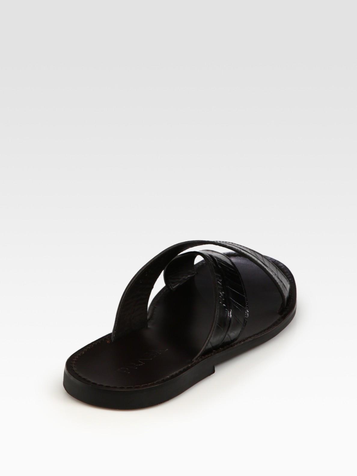 5834928006f342 Lyst - Prada Criss Cross Sandals in Black for Men