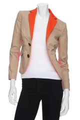 DSquared2 Neon Colorblock Safari Blazer