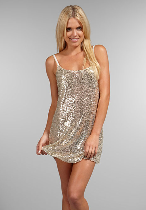 Free People Sequin Slip Dress in Silver (white gold) | Lyst