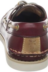 Frye Mens Sully Boat Shoe in Brown for Men (burgundy) - Lyst