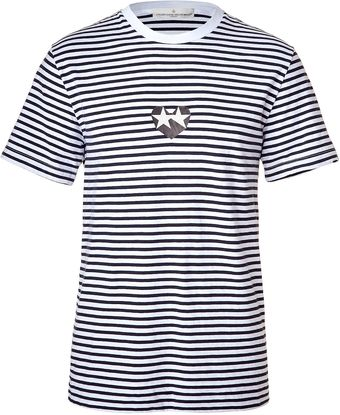 Golden Goose Deluxe Brand White and Black Striped Tee - Lyst