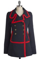 ModCloth Seaside Salutations Coat - Lyst