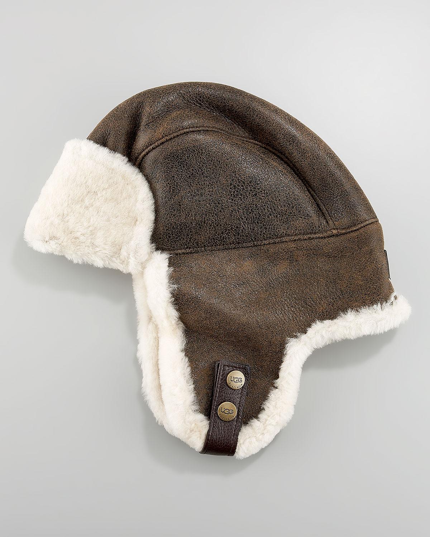 ec031d0086650 Lyst - Ugg Shearling Trapper Hat in Brown for Men