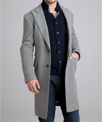 Brunello Cucinelli  Cashmere Three Button Coat - Lyst