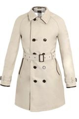 Burberry Brit Leather-under Collar Coat