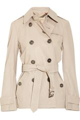 Burberry Brit Sandwashed-leather Trench Coat - Lyst