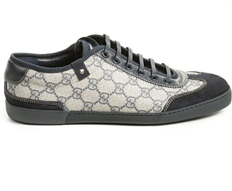 Gucci Shoes Tennis Tail Ankle Boots Gg Embossed in Gray for Men (Grey