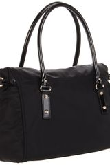 Kate Spade New York Nylon Leslie Satchel in Black - Lyst