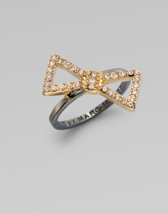 Marc By Marc Jacobs Stone Accented Bow Ring - Lyst