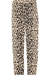 Tibi Printed Cotton-blend Sateen Cropped Pants - Lyst