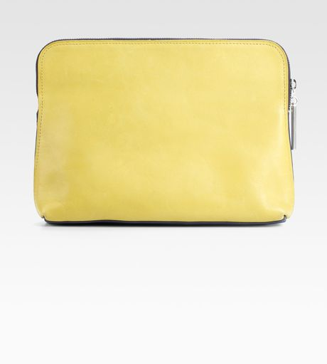 3.1 Phillip Lim Minute Cosmetic Zip Bag in Yellow (black) - Lyst
