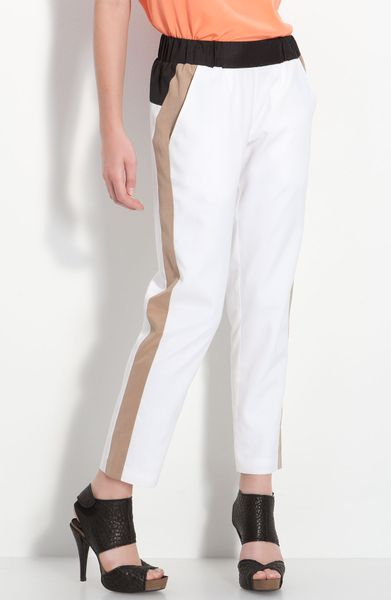 Cut25 Side Stripe Pants in White (optic multi) - Lyst