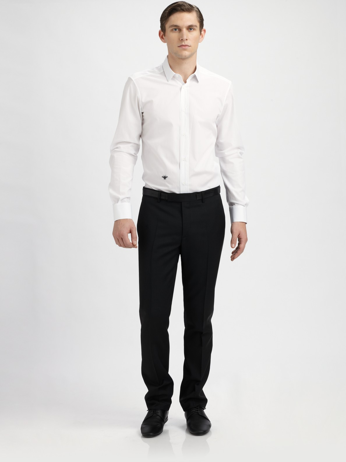 Dior homme Poplin Dress Shirt in White for Men
